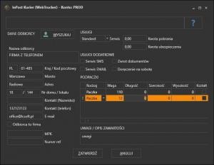 InPost kurier (Web Trucker) - edycja listu przewozowego przed wydrukiem etykiety kurierskiej