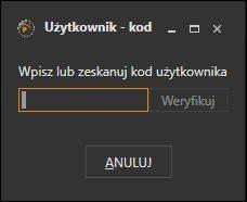 Obsługa magazynu dla Subiekta GT - okno autoryzacji użytkownika