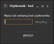 Obsługa magazynu dla Subiekta nexo - okno autoryzacji użytkownika