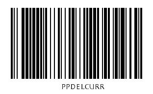 Kod kreskowy z kodem akcji do usuwania paczek w oknie edycji listu przewozowego
