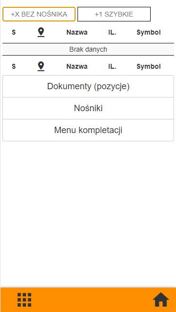 Subiekt GT kompletacja na kolektorze danych, widok okna kompletacji towarów  po zakończeniu procesu w  aplikacji PP Kolektor