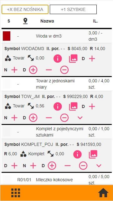 Subiekt GT kompletacja na kolektorze danych, widok okna z nadmiarowym skanem w aplikacji PP Kolektor